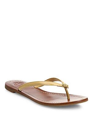 919b81768960 Tory Burch - Terra Patent Leather Thong Sandals - saks.com