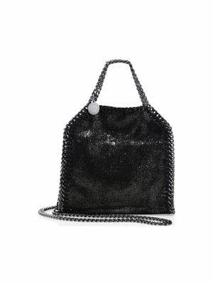 Falabella Tiny Baby Bella Shimmer Faux-Suede Tote