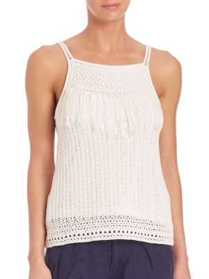 Olesia Crochet Fringe Tank Top by Joie