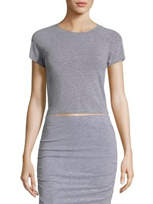 Fitted Stretch Crop T-Shirt by MONROW