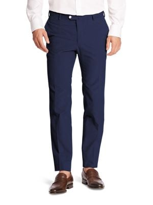 ISAIA Comfort Wool-Blend Dress Pants in Gray