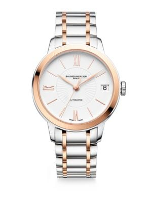 BAUME & MERCIER Classima Two Tone Automatic Watch, 31Mm in Silver-Gold