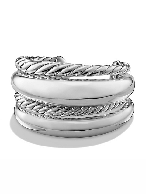 Pure Form Four-Row Bracelet in Sterling Silver