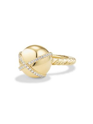 Solari Double Pave Wrap Ring With Diamonds In 18K Gold