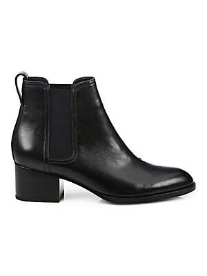 62a81ef35f6 Rag   Bone - Walker Leather Block Heel Booties - saks.com