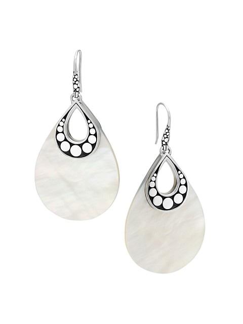 Dot Mother-Of-Pearl & Sterling Silver Drop Earrings