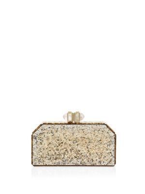 Faceted Paillette Clutch