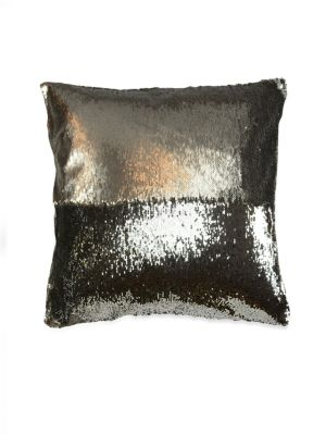 "Image of Add a regal and velvety touch to your home decor with this plush pillow that features gleaming sequins on a gorgeous background.20"" W x 12"" H.Polyester/ silk dupioni. Dry clean. Made in USA."