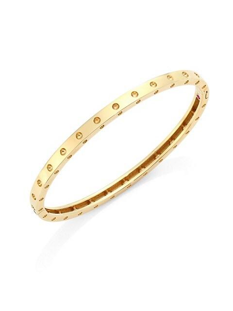 Pois Moi 18K Yellow Gold Oval Bangle Bracelet