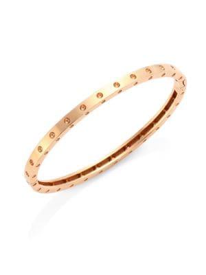 18K Rose Gold Symphony Dotted Bangle Bracelet