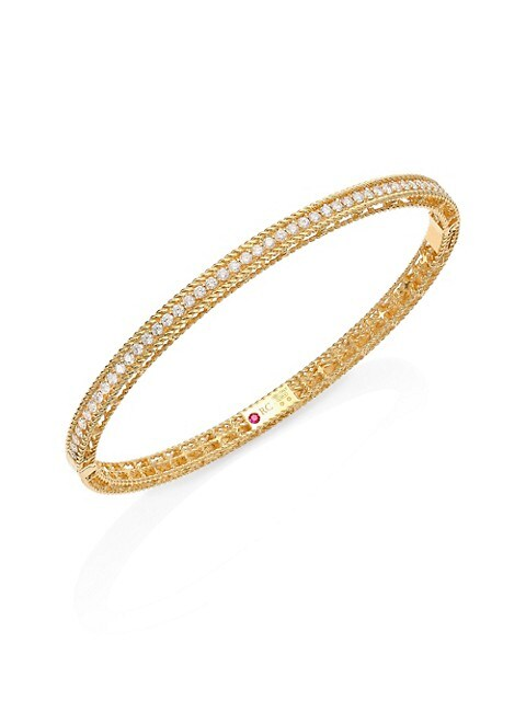 Symphony Braided Diamond & 18K Yellow Gold Bracelet