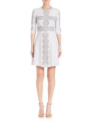 Three-Fourth Sleeve Cady Dress