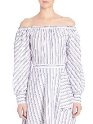 Leandrea Cotton Off-The-Shoulder Blouse by Elle Sasson