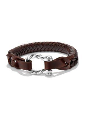 David Yurman Maritime Woven Leather Bracelet