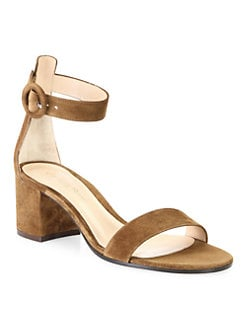 c96a86f987f Product image. QUICK VIEW. Gianvito Rossi. Texas Suede Block Heel Sandals