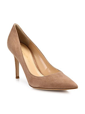 3a2eeab468ef Christian Louboutin. New Very Prive 120 Patent Leather Peep Toe Pumps.   845.00 · Gianvito Rossi - Suede Point Toe Pumps