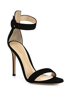 994ba76c481 Gianvito Rossi. Portofino Suede Ankle-Strap Sandals
