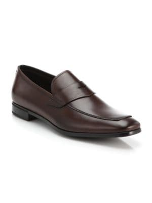 ce00222f49 Prada - Saffiano Leather Penny Loafers - saks.com