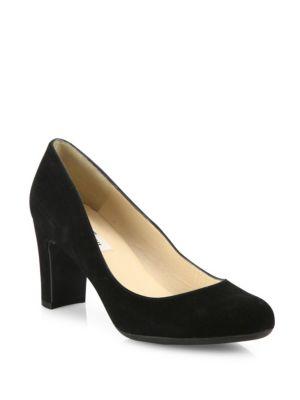 L.K. BENNETT Sersha Suede Block Heel Pumps in Black