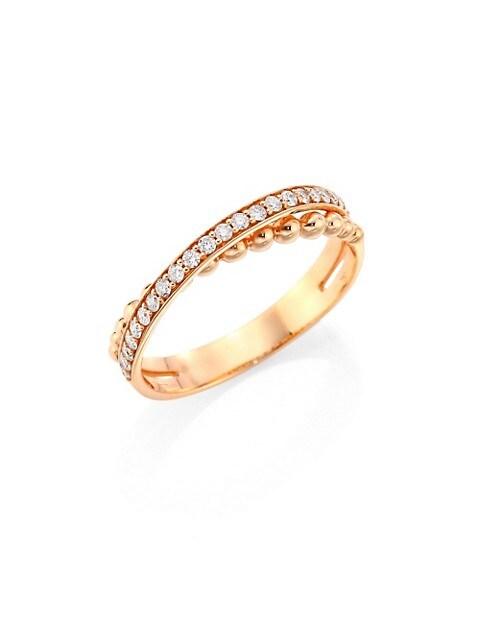 Bubbles Diamond & 18K Rose Gold Ring