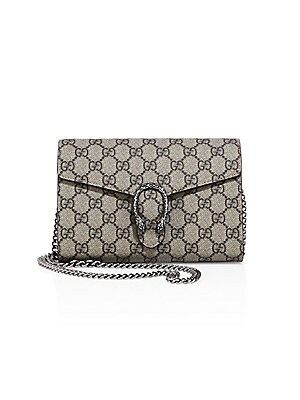 9802b3538841 Gucci - Dionysus GG Supreme Chain Wallet - saks.com
