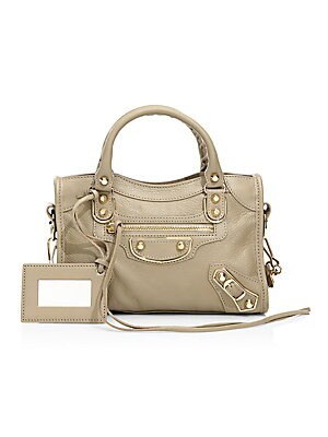 best authentic best online superior materials Balenciaga - Mini Classic City Metallic Edge Leather Satchel