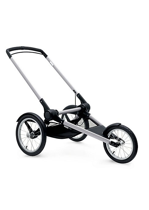 Image of Designed specifically for active parents, the Bugaboo Runner is a chassis created purely for running. Ingeniously designed, the runner base perfectly adapts to your requirements. Features a convenient under seat basket, shock absorbing built-in suspension