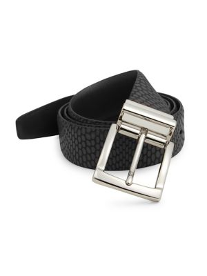 Saks Fifth Avenue  COLLECTION Iguana Embossed Leather Belt