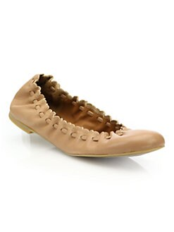 7ebed807bf1 See by Chloé. Jane Leather Ballet Flats