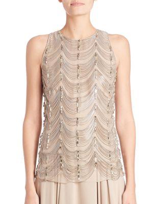 Beaded Silk Shell by Ralph Lauren Collection