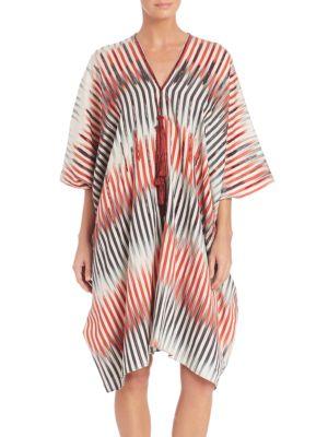 Beachy Cotton And Silk Caftan plus size,  plus size fashion plus size appare