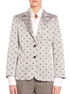Printed Silk Jacket by Thom Browne