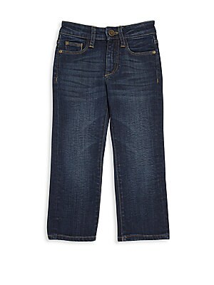 Image of Delicate whiskers add style to these sleek jeans Belt loops Zip fly with button closure Five-pocket style Cotton/promodal/elastane Machine wash Imported. Children's Wear - Contemporary Children. DL1961 Premium Denim. Color: Ferret. Size: 4.