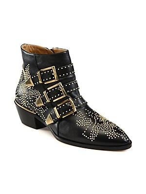 b93cfe86a74 Chloé - Susanna Studded Leather Ankle Boots - saks.com