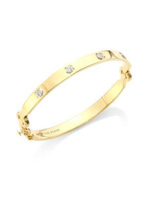 HEARTS ON FIRE Copley 18K Yellow Gold & Diamond Bangle