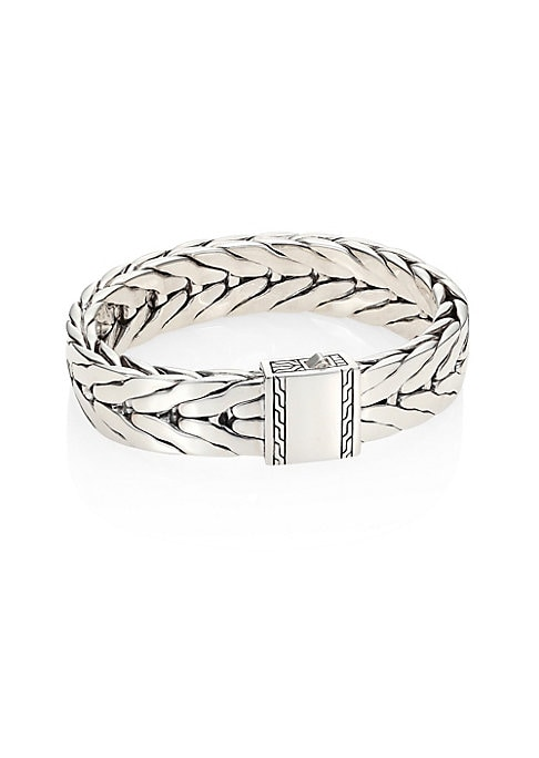 Image of From the Classic Chain Collection. Finely crafted sterling silver chain link bracelet. Sterling silver. Push lock clasp. Imported.