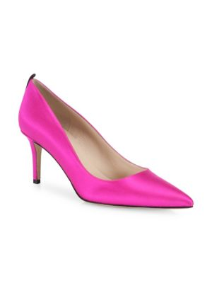 SJP BY SARAH JESSICA PARKER Fawn Satin Pointed-Toe 70Mm Pump, Fuchsia in Candy Pink