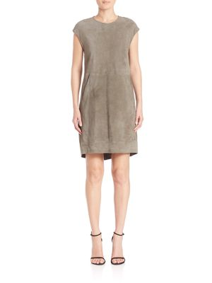 Suede Shift Dress by Eleventy