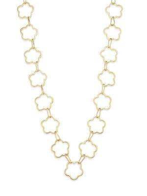VAUBEL Connected Flower Link Necklace in Gold