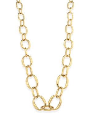 VAUBEL Graduating Edgy Oval Links Necklace in Gold