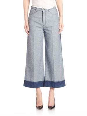Cropped Wide Leg Jeans by
