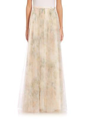 Arabella Printed Tulle Maxi Skirt plus size,  plus size fashion plus size appare