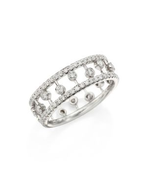 De Beers Dewdrop Diamond & 18K White Gold Ring