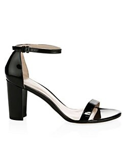 e7e701073 QUICK VIEW. Stuart Weitzman. Nearlynude Block-Heel Patent Leather Sandals