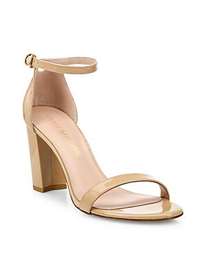 36e372f461 Stuart Weitzman - Nearlynude Leather Block Heel Sandals - saks.com