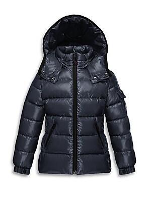 cdfa3f8e39a7 Moncler - Little Girl s Hooded Puffer Jacket - saks.com