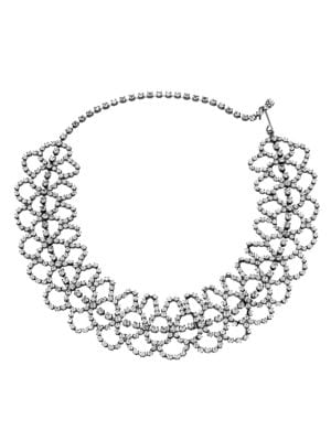 Kenneth Jay Lane Crystal Lace Choker Necklace