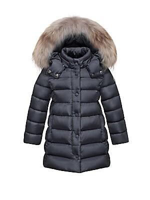 77f84d8a8a5d Moncler - Little Girl s   Girl s Neste Fox Fur Trim Down Jacket ...