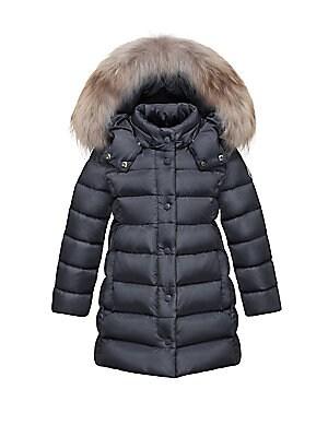 7d036ab758a9 Moncler - Little Girl s Hooded Puffer Jacket - saks.com