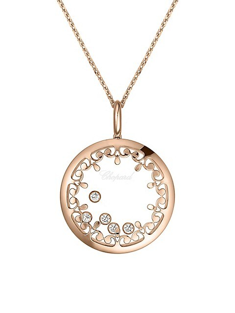 Happy Diamonds 18K Rose Gold Joaillerie Pendant